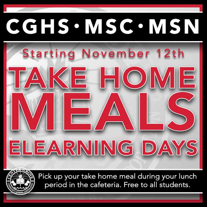 Free meals available on eLearning days!