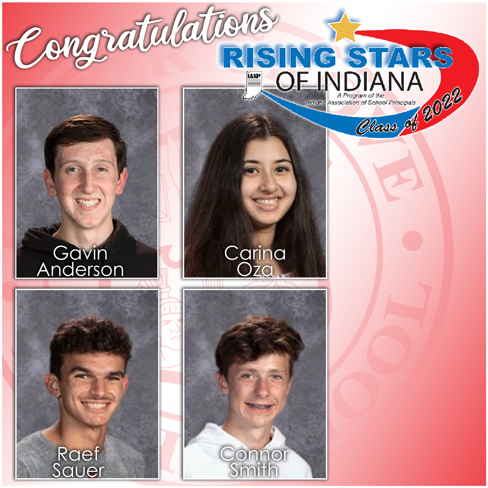 Four CGHS juniors named Rising Stars of Indiana