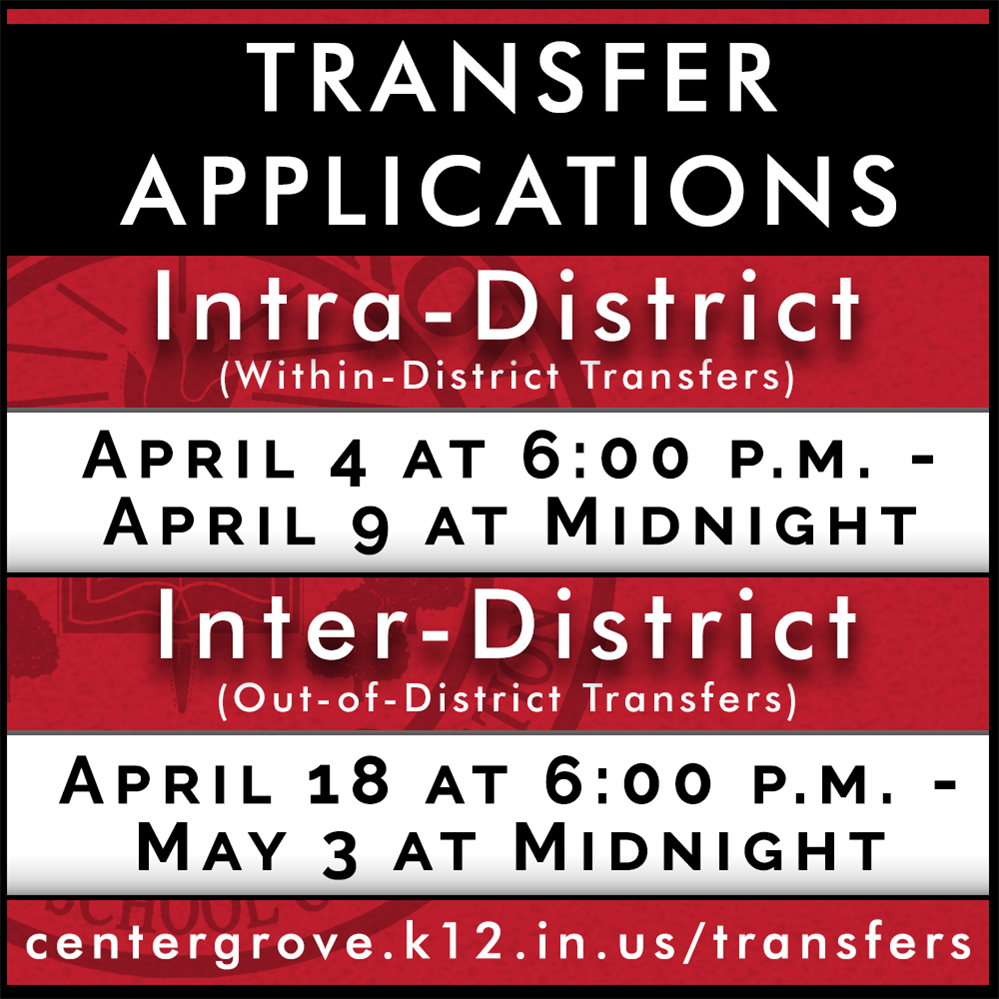 Transfer application deadlines!