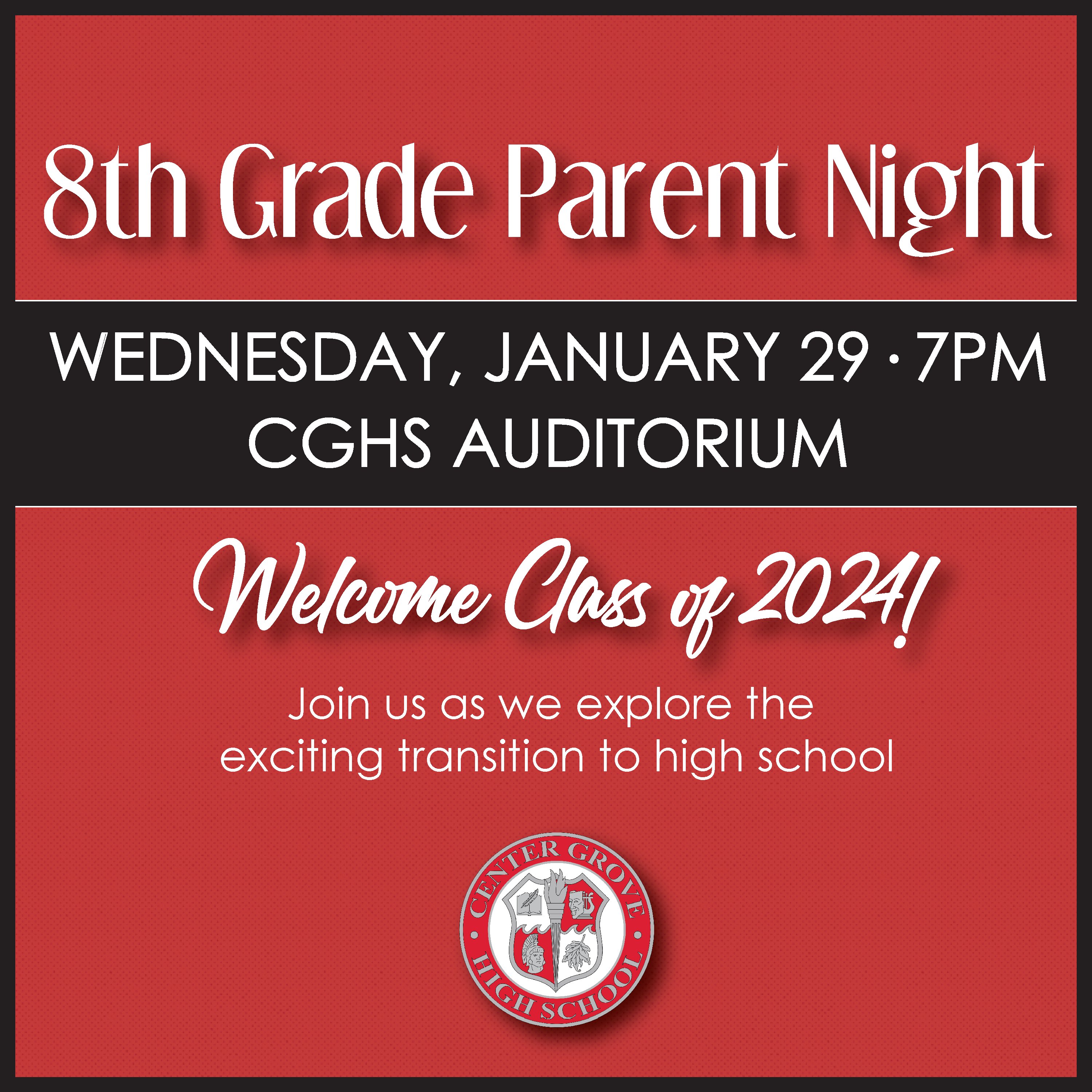 8th Grade Parent Info Night at CGHS