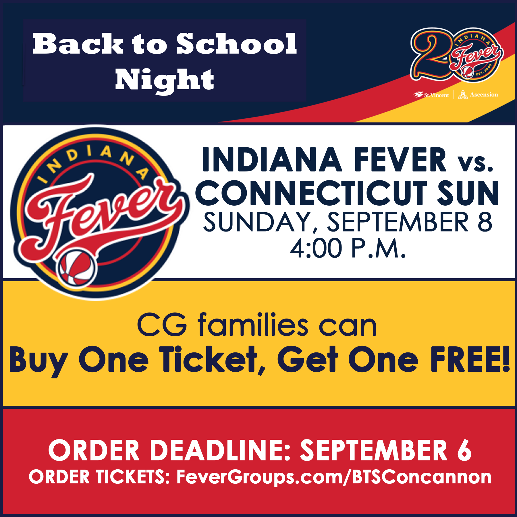 Indiana Fever Ticket Discount