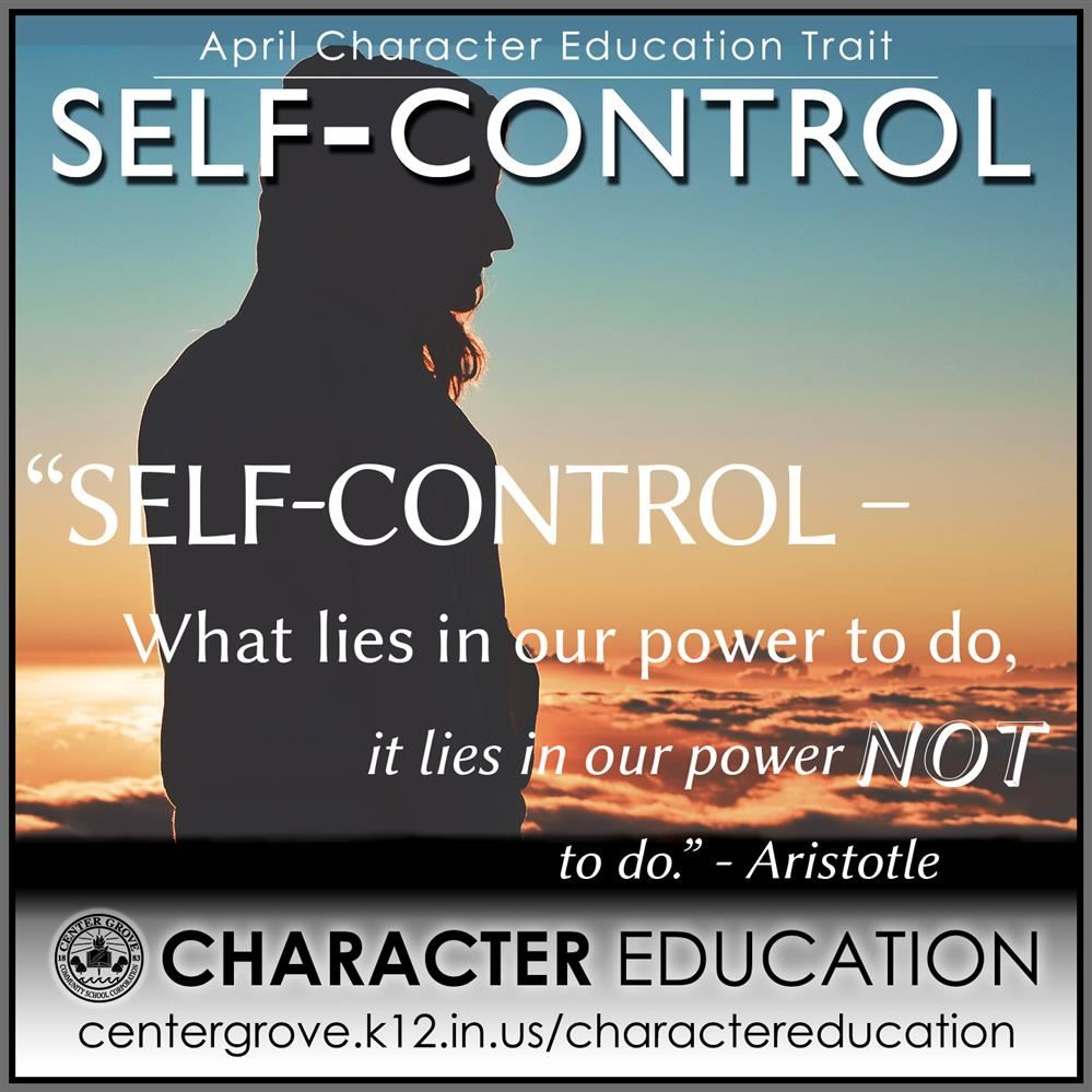 Center Grove Character Education-April Self Control