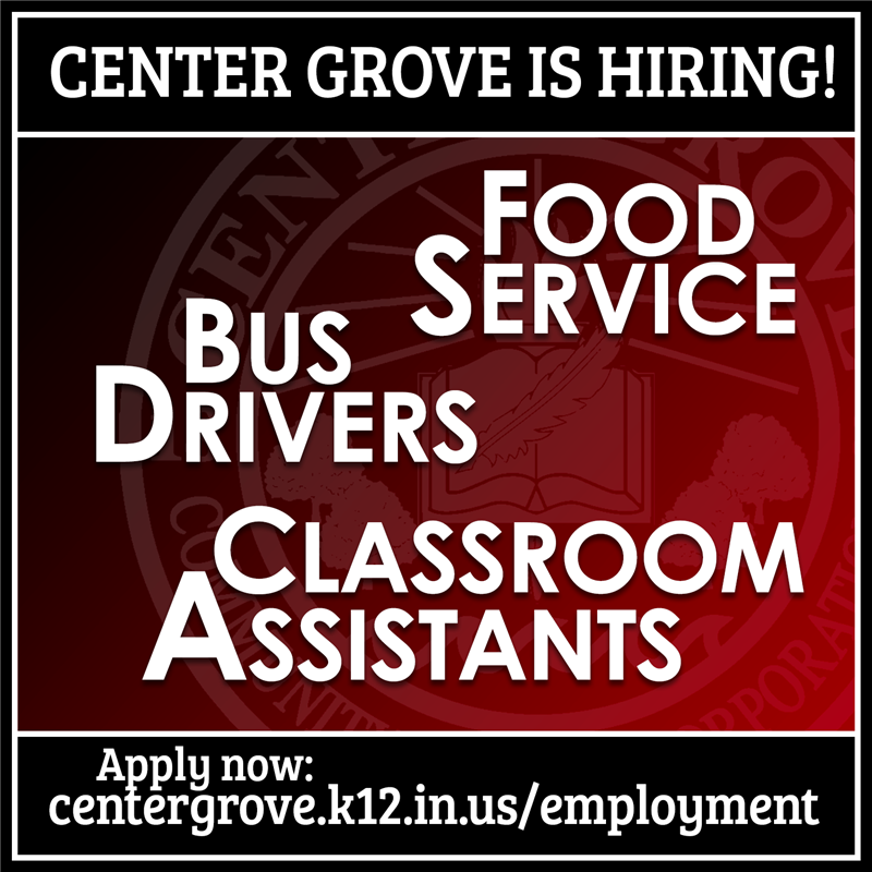 Center Grove is Hiring