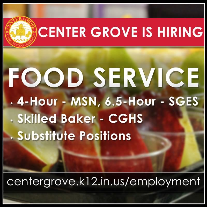 Center Grove is Hiring!