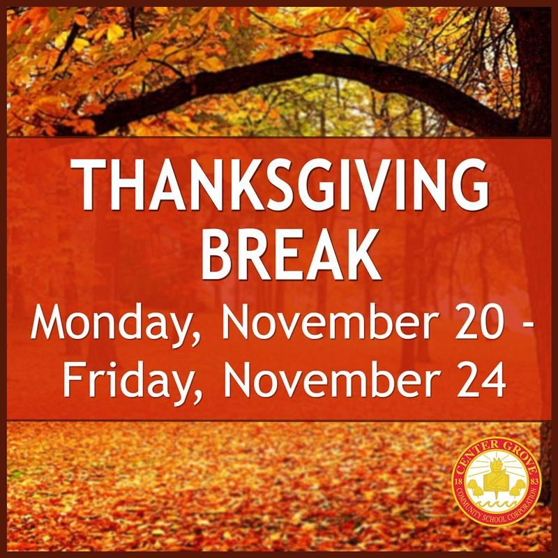 Have a safe Thanksgiving Break!