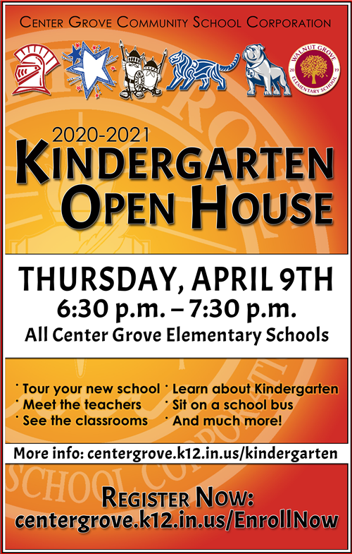 Kindergarten Open House Poster