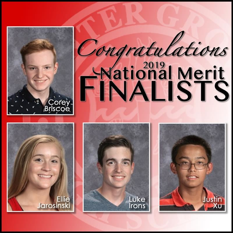 Four CGHS seniors named National Merit Scholarship Finalists