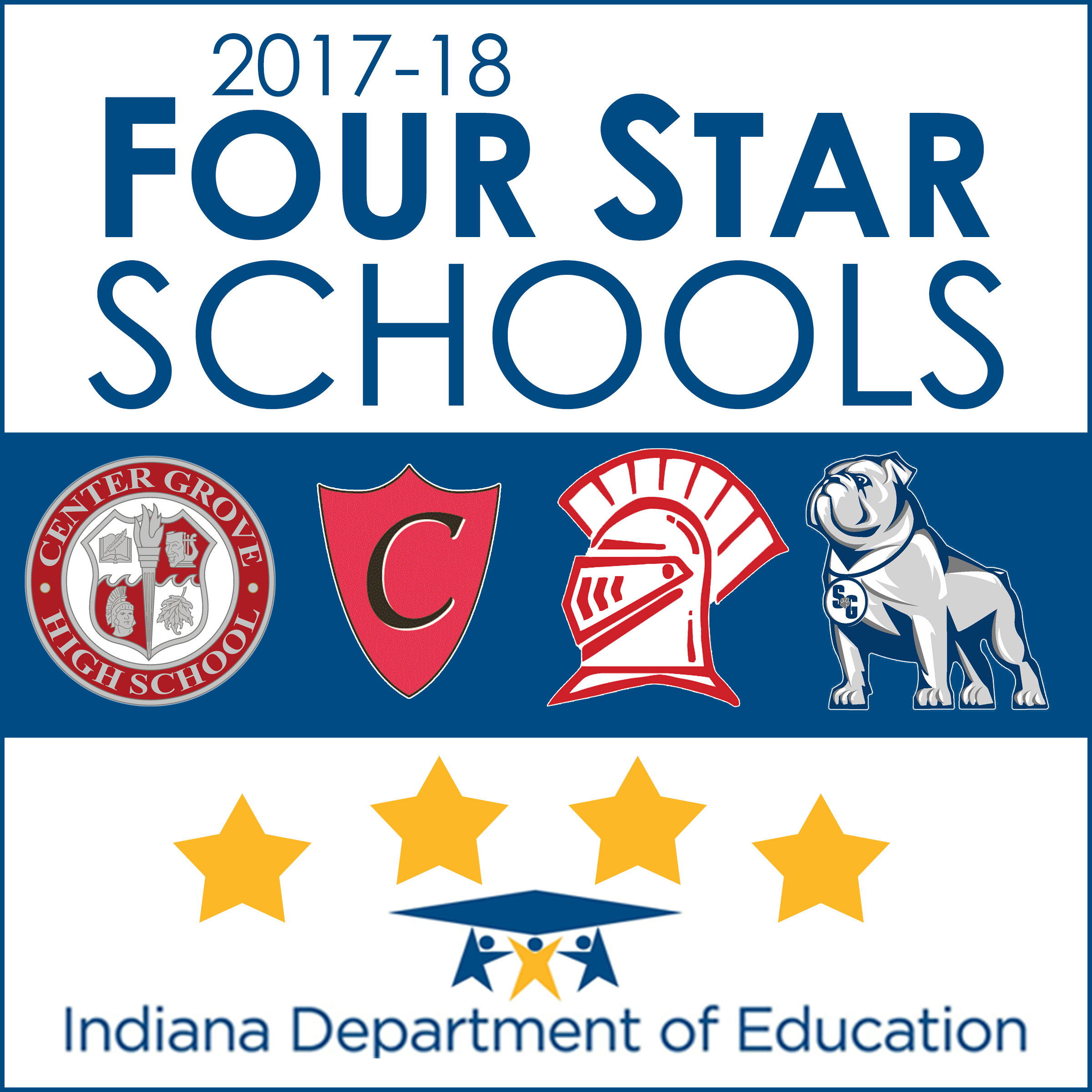 Four Center Grove schools awarded Four Star Status