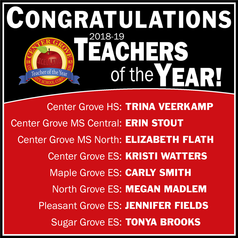 Congratulations 2018-19 Teachers of the Year!