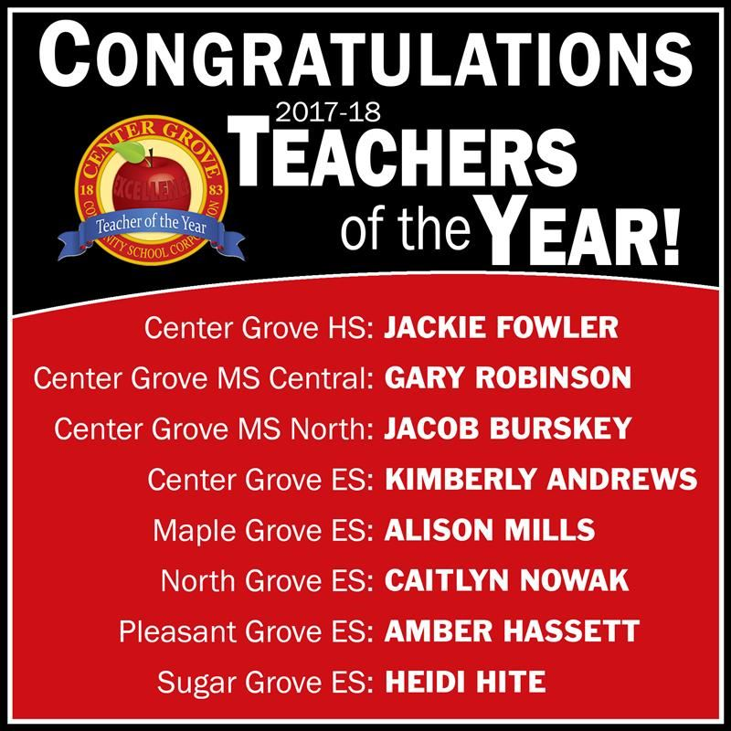 Congrats to our 2017-18 Teachers of the Year