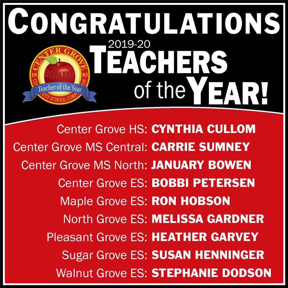 Congratulations 2019-20 Teachers of the Year!