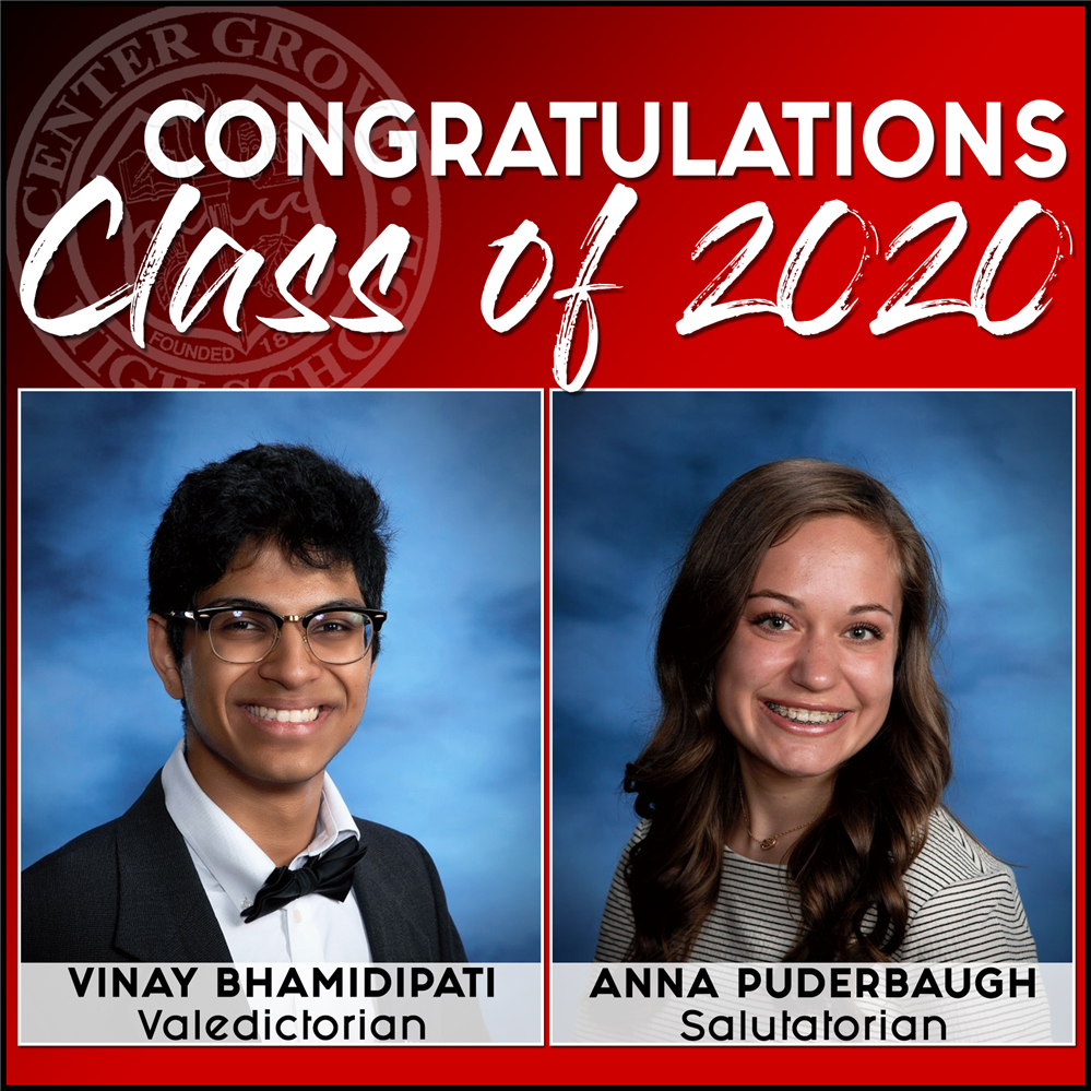 CGHS names Class of 2020 Valedictorian & Salutatorian