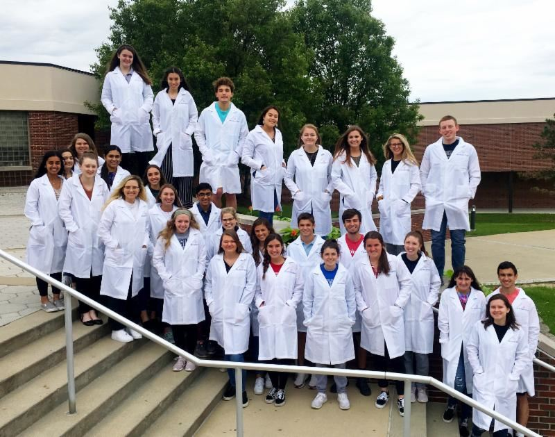 Center Grove High School seniors honored with White Coat Ceremony