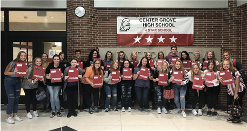 Center Grove High School seniors receive UIndy acceptance letters