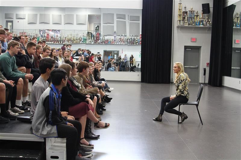 Betsy Wolfe visits CGHS Sound System
