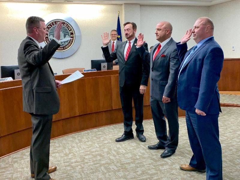 Alexander, Hubbard, Russell Sworn in to New Terms; Tumey Named President of CGCSC Board