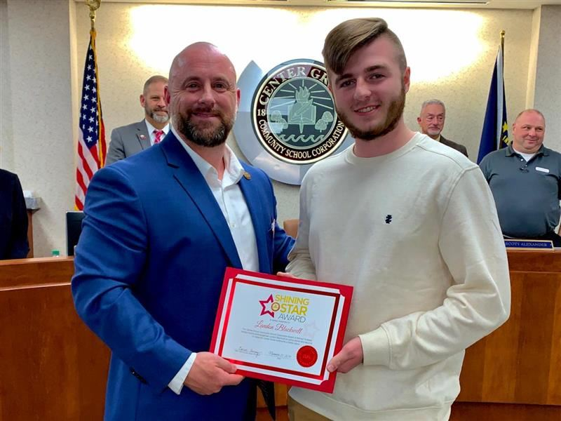 CGHS junior honored for his tribute for veterans