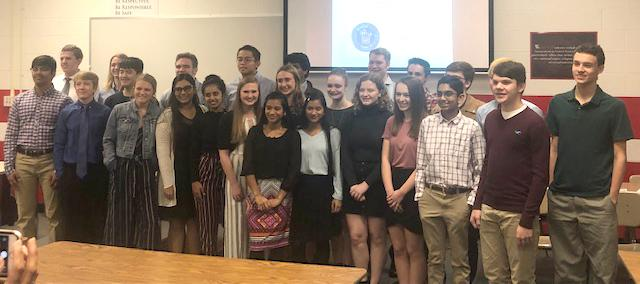 Mu Alpha Theta inducts inaugural class at CGHS