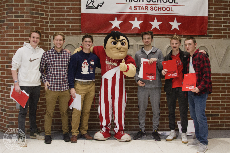 Six CGHS students receive hand-delivered acceptance to Wabash College