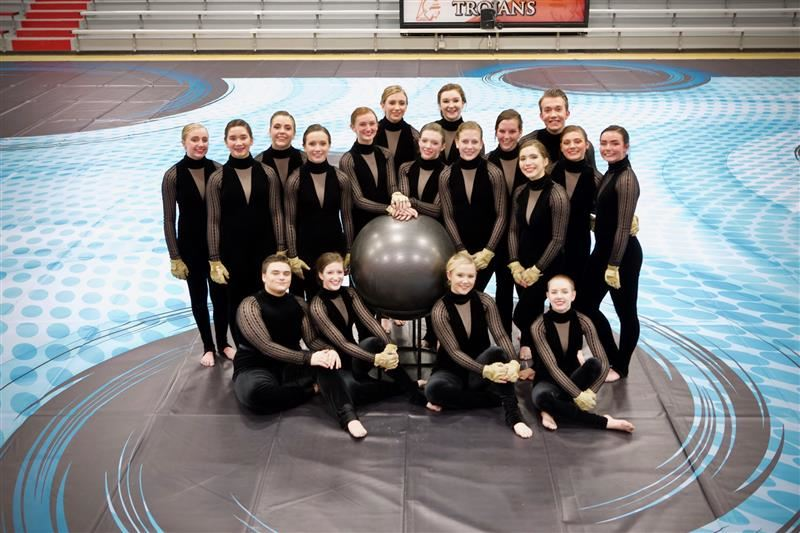 CGHS Color Guard team's earn top ranks at weekend competitions