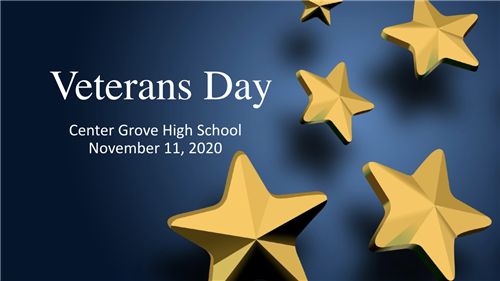 Center Grove High School honors veterans virtually.