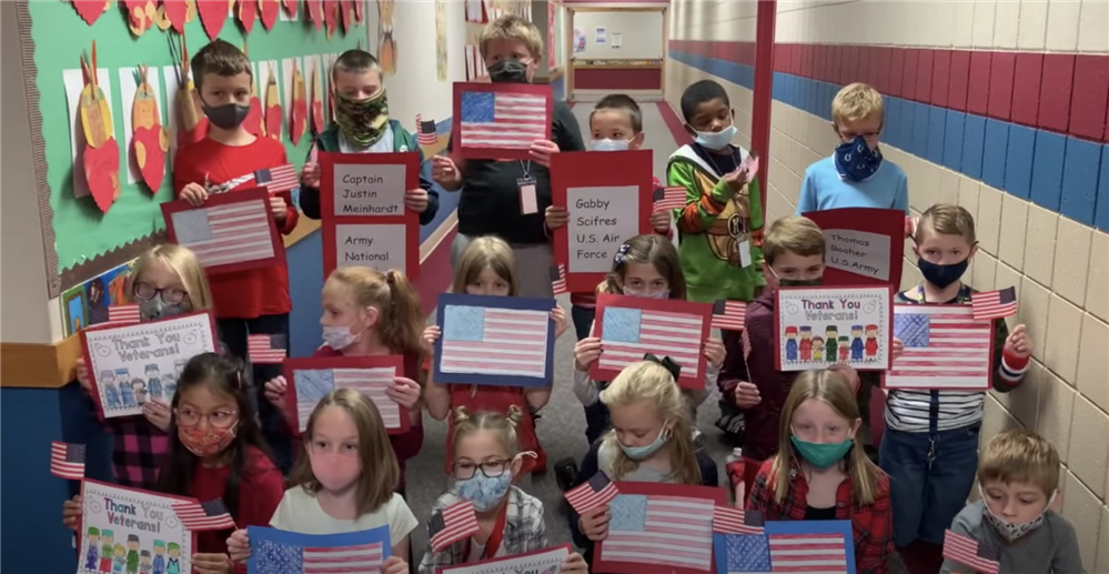 North Grove, Sugar Grove, and Walnut Grove Elementary Schools share virtual tribute for Veterans Day.