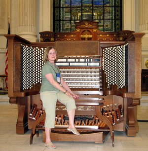 Esther Kovacs with Pipe Organ