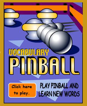 Vocabulary Pinball