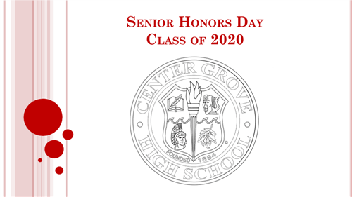 Senior Honors Day Class of 2020