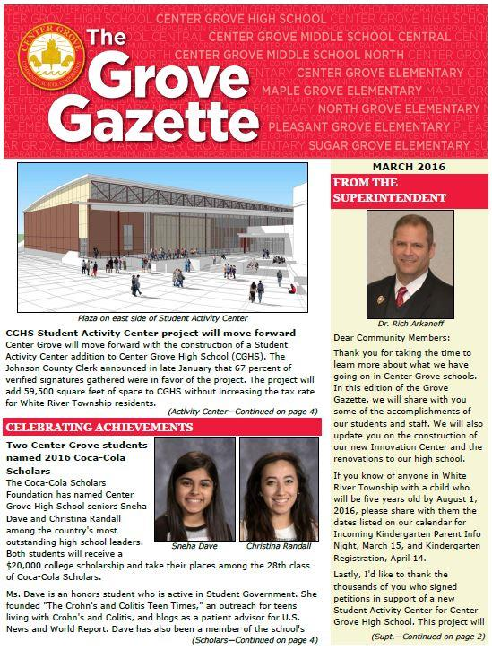 Grove Gazette - March 2016