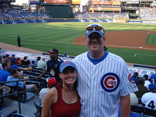 Will and I at a Cubs Game